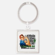 If Rosie Can Do It Liver Disease Square Keychain