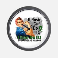 If Rosie Can Do It Liver Disease Wall Clock