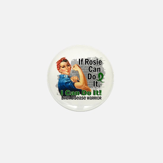 If Rosie Can Do It Liver Disease Mini Button (10 p