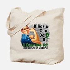 If Rosie Can Do It Liver Disease Tote Bag