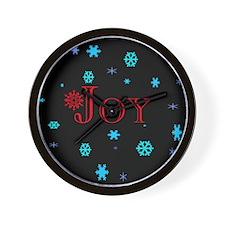 Joy Christmas Wall Clock