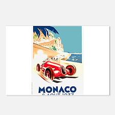 Antique 1937 Monaco Grand Prix Race Poster Postcar