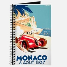 Antique 1937 Monaco Grand Prix Race Poster Journal
