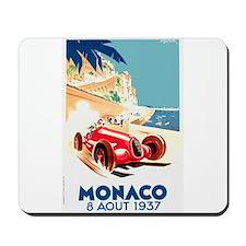 Antique 1937 Monaco Grand Prix Race Poster Mousepa