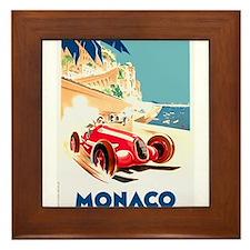 Antique 1937 Monaco Grand Prix Race Poster Framed