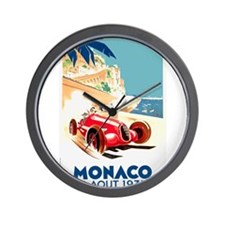 Antique 1937 Monaco Grand Prix Race Poster Wall Cl