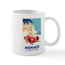 Antique 1937 Monaco Grand Prix Race Poster Mug