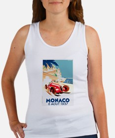 Antique 1937 Monaco Grand Prix Race Poster Tank To