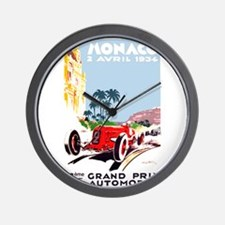 Antique 1934 Monaco Grand Prix Race Poster Wall Cl