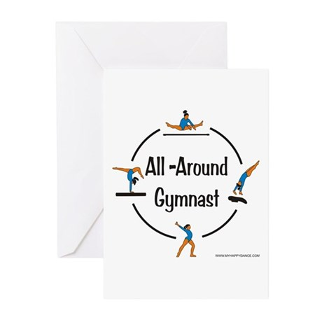 All Around Gymnast Greeting Cards (Pk of 10)