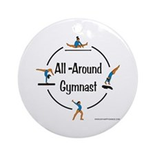 All Around Gymnast Ornament (Round)