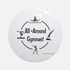 All Around Gymnast Ornament (Round)
