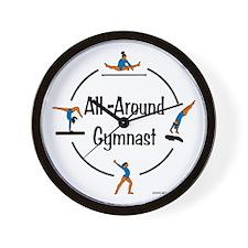 All Around Gymnast Wall Clock