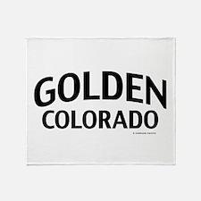 Golden Colorado Throw Blanket