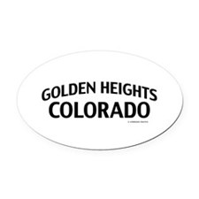 Golden Heights Colorado Oval Car Magnet