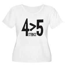 4 strings Plus Size T-Shirt