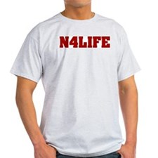 N4LIFE (IN FOR LIFE) Ash Grey T-Shirt
