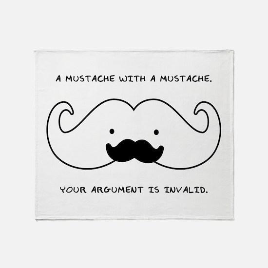 Mustache Mustache Throw Blanket