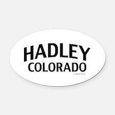 Hadley Colorado Oval Car Magnet