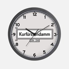 Kurfürstendamm, Berlin - Germany Wall Clock