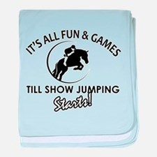 Show Jumping designs baby blanket