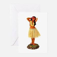 Hawaiian Hula Christmas Cards (6 in Pack)