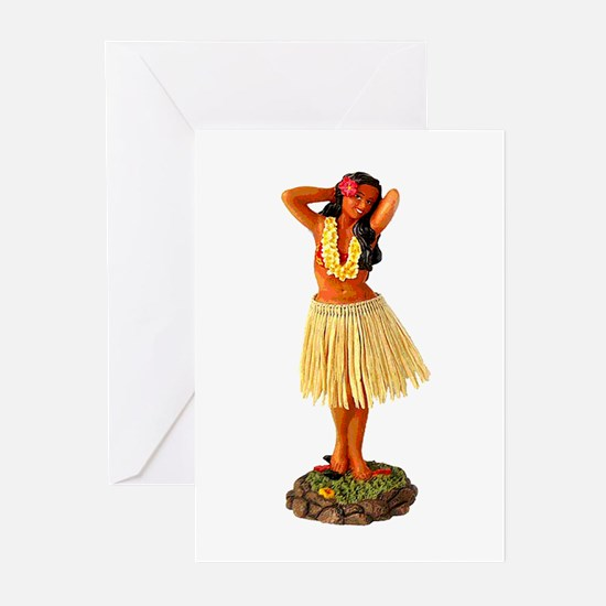 Hawaiian Hula Christmas Cards (6 in Pack)