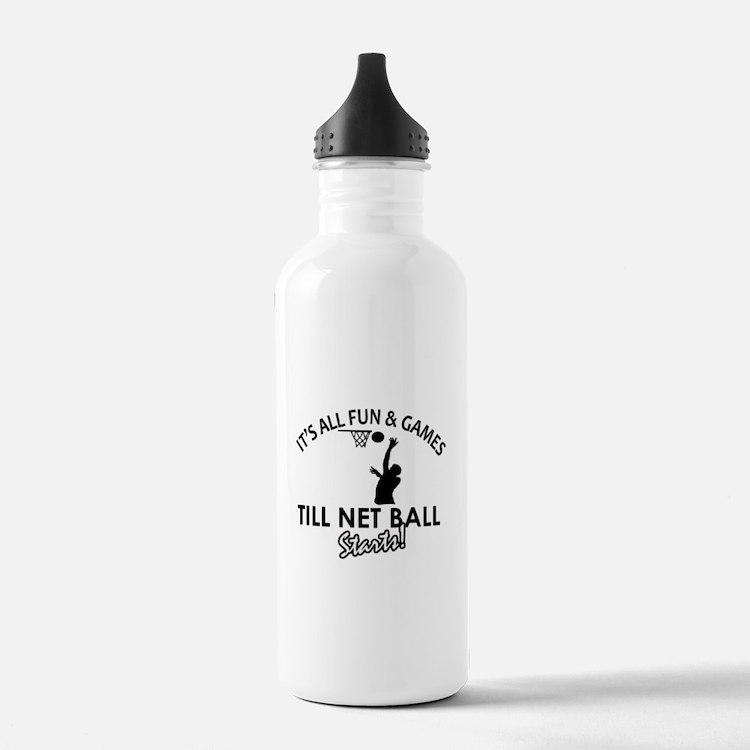 Netball designs Water Bottle