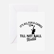 Netball designs Greeting Card