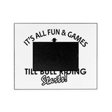 Bull Riding designs Picture Frame