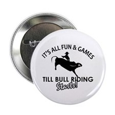 "Bull Riding designs 2.25"" Button"