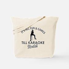 Karaoke designs Tote Bag