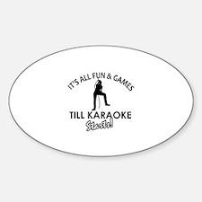 Karaoke designs Sticker (Oval)
