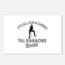 Karaoke designs Postcards (Package of 8)
