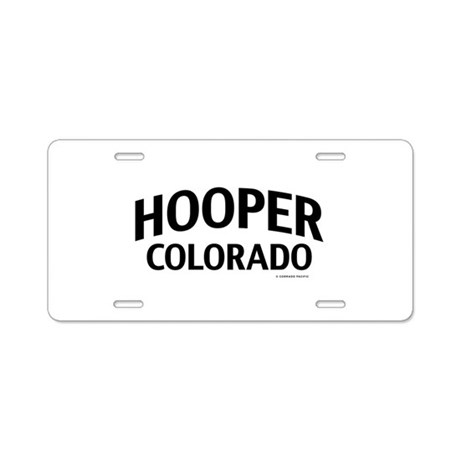Hooper Colorado Aluminum License Plate