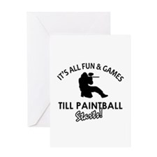 Paintball designs Greeting Card