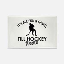 Hockey designs Rectangle Magnet