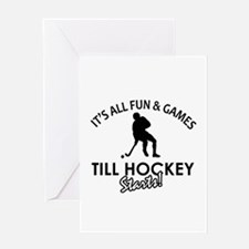 Hockey designs Greeting Card