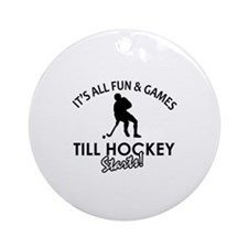 Hockey designs Ornament (Round)
