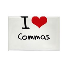 I love Commas Rectangle Magnet