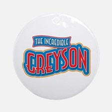 The Incredible Greyson Ornament (Round)