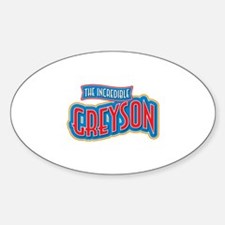 The Incredible Greyson Decal