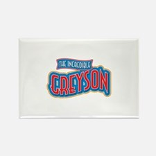 The Incredible Greyson Rectangle Magnet