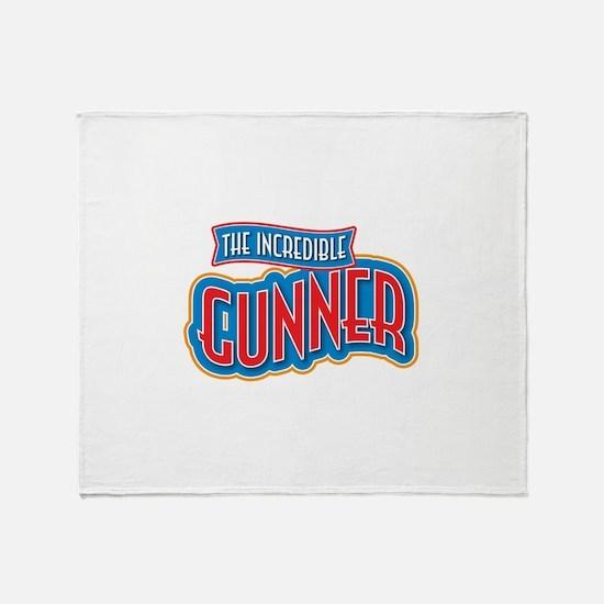 The Incredible Gunner Throw Blanket