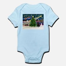 Xmas Magic & Black Pug Infant Bodysuit