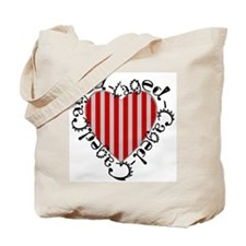 Caged Heart Tote Bag