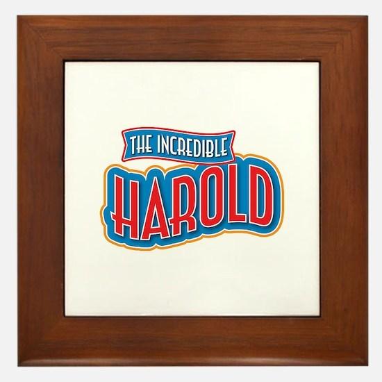 The Incredible Harold Framed Tile