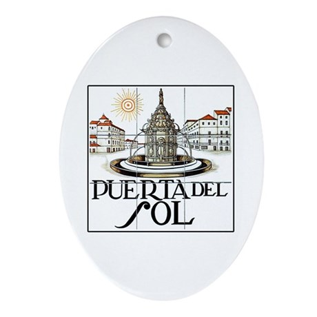 Puerta del Sol, Madrid - Spain Oval Ornament