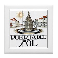 Puerta del Sol, Madrid - Spain Tile Coaster