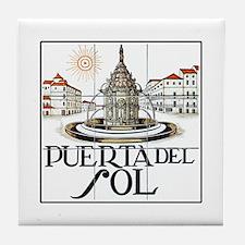 Puerta del Sol, Madrid - Spain Tile Coaster